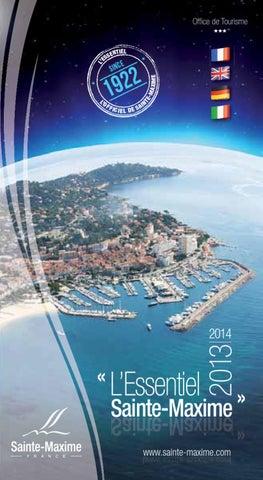 Guide officiel des commerces restaurants de sainte maxime l 39 essentiel 2013 by office de - Office tourisme sainte maxime ...