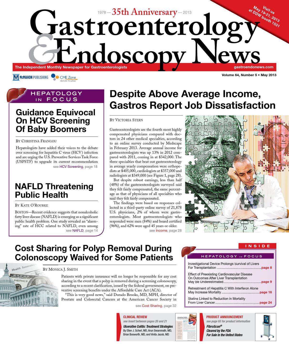 The May 2013 Digital Edition of Gastroenterology and Endoscopy News by  McMahon Group - issuu