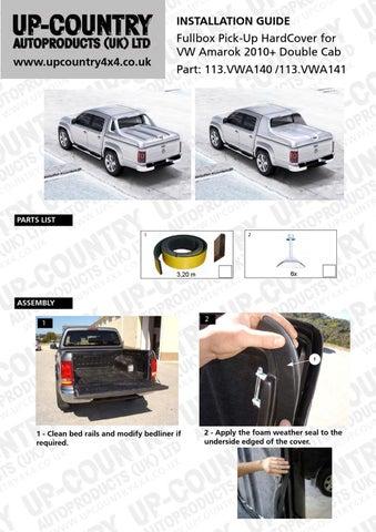 Volkswagen (VW) Amarok FullBox Pick-Up HardCover Install
