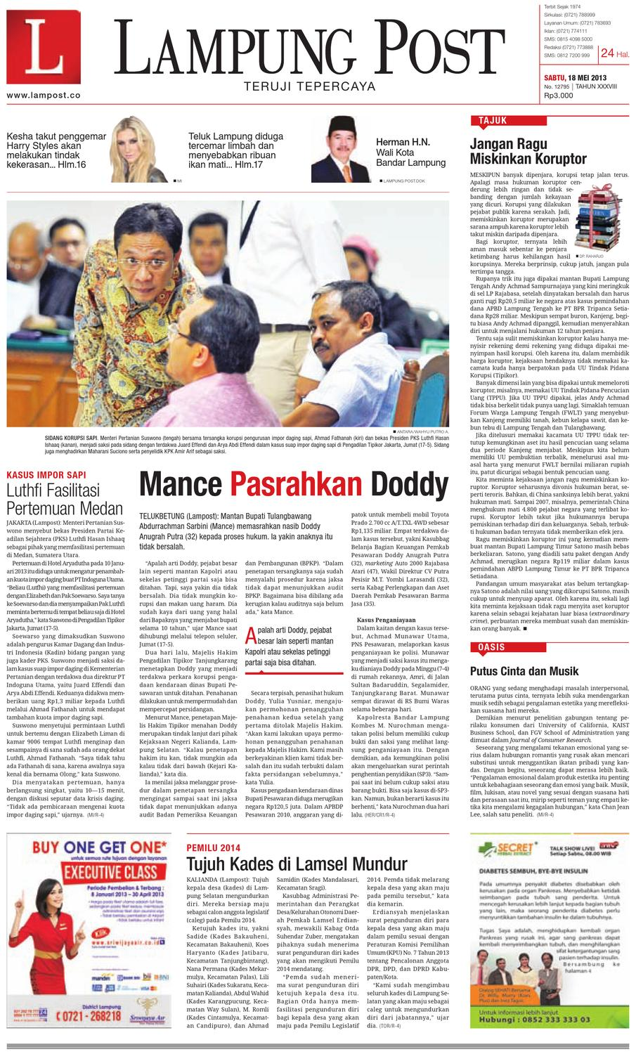 lampungpost edisi 18 mei 2013 by Lampung Post - issuu e516a6d931