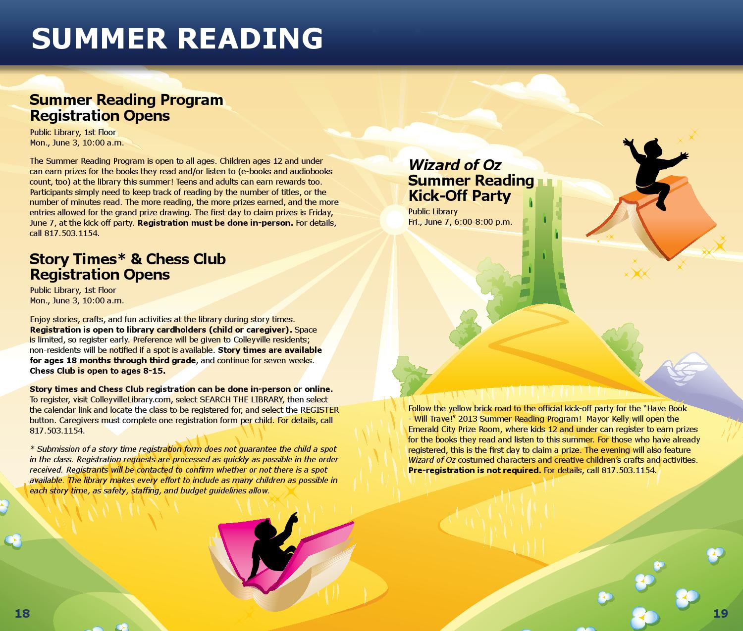Reading & Recreation Sensation - Summer 2013 by City of