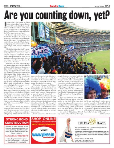 Vol iv issue 5 by bandra buzz issuu page 9 thecheapjerseys Images