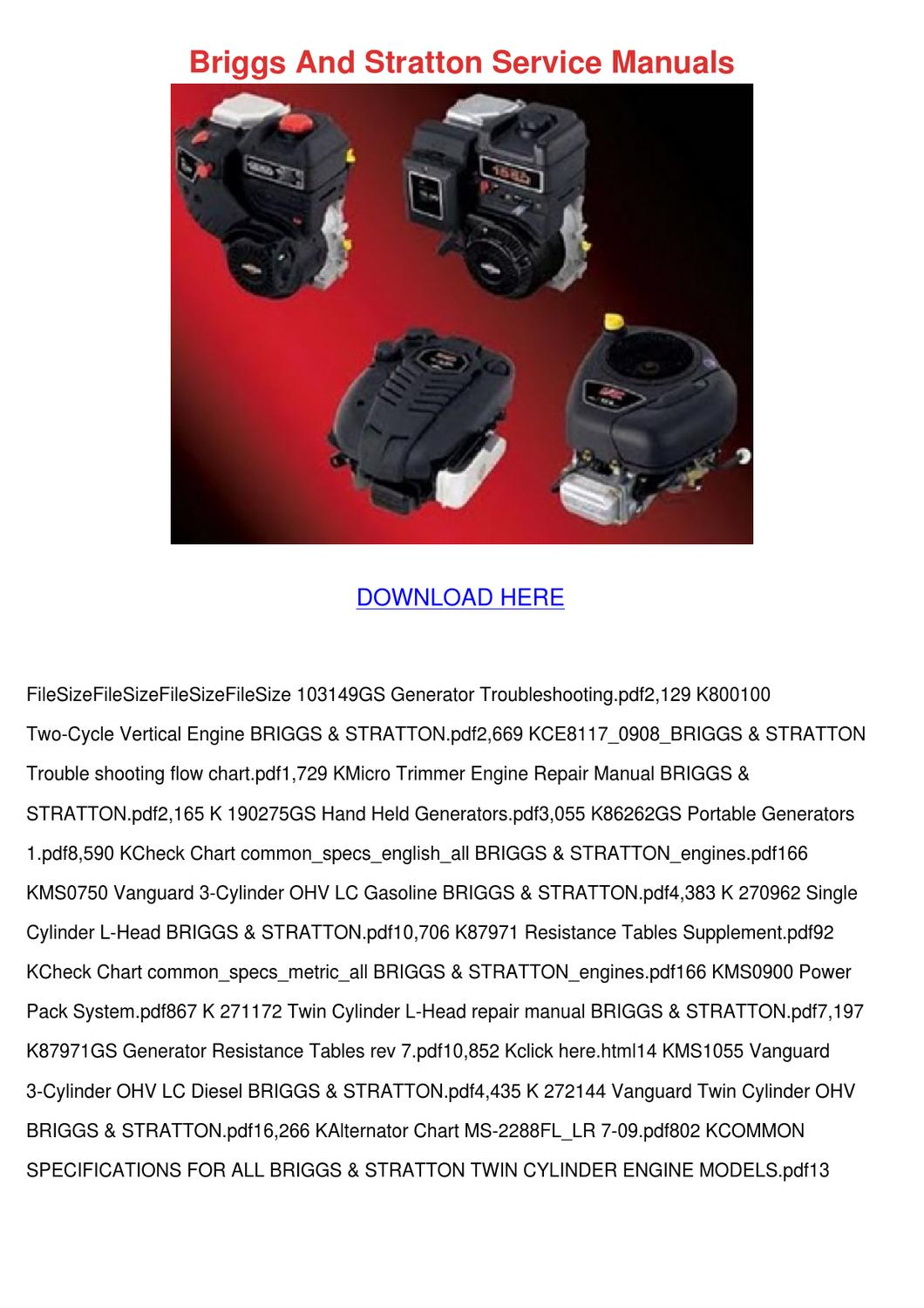 Briggs And Stratton Service Manuals By Lula Hattaway Issuu border=