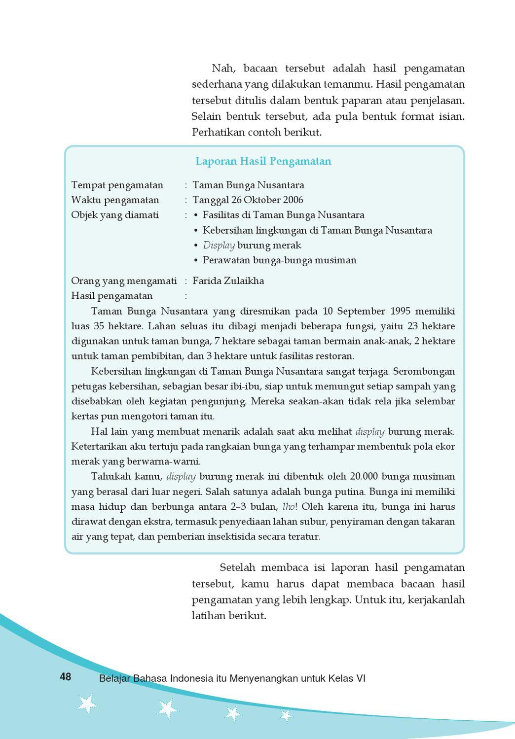 Kelas 6 Bahasa Indonesia Ismail By Yeti Herawati Issuu