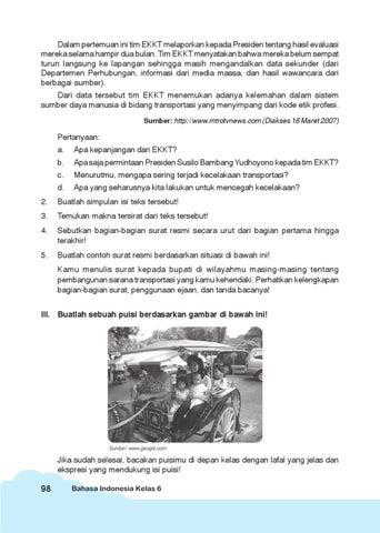 Kelas 6 Bahasa Indonesia Sukini By Yeti Herawati Issuu