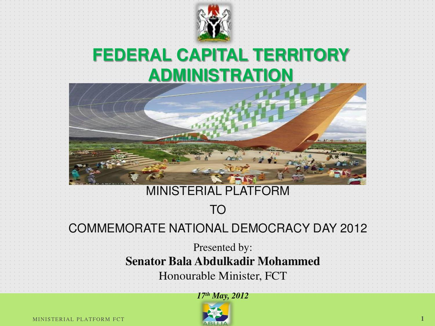 federal capital territory by federal ministry of information
