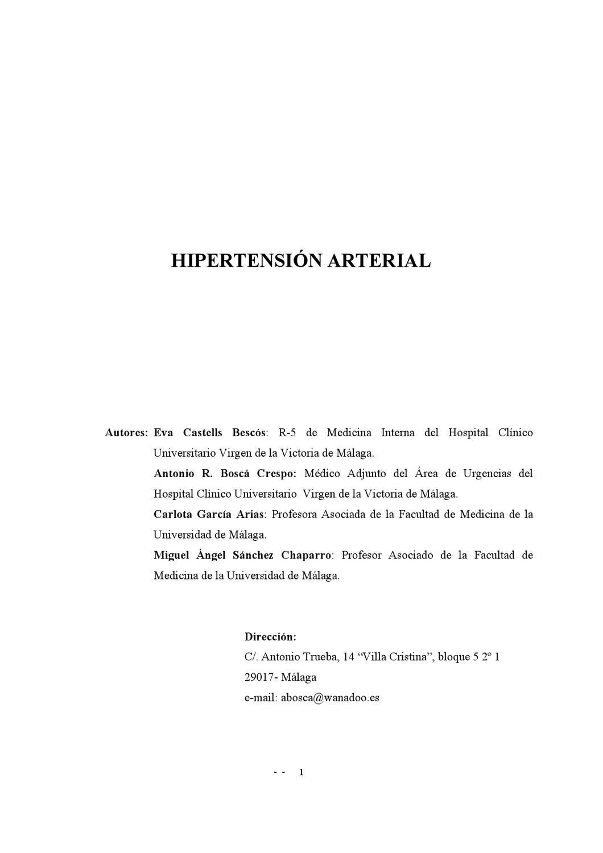 Pautas de emergencia de hipertensión jnc 8
