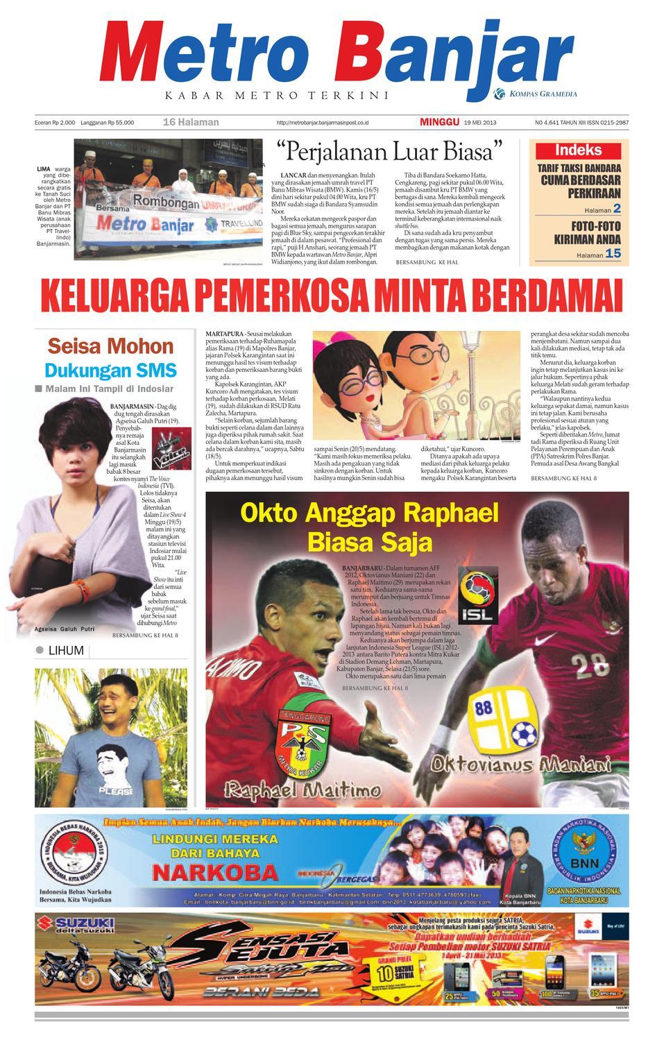 Metro Banjar edisi Minggu feab36928a