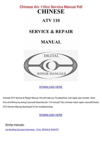 quad 110ccm service manual open source user manual u2022 rh dramatic varieties com chinese atv service manual free download chinese 110 atv service manual