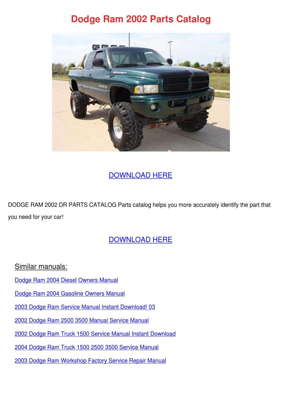 2004 Dodge Ram 3500 Repair Manual