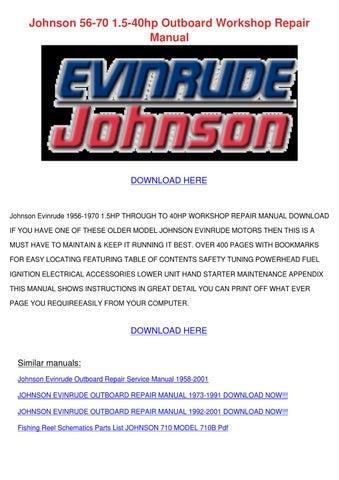 Evinrude repair manual 9 5hp