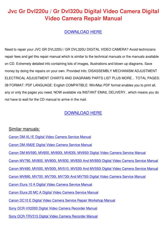 Jvc Gr Dvl220u Gr Dvl320u Digital Video Camer By Ingeborg