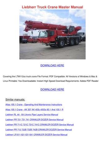 Liebherr Truck Crane Master Manual by Ingeborg Giannecchini - issuu