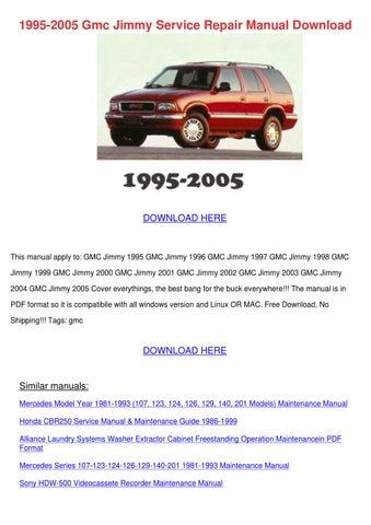 1995 2005 Gmc Jimmy Service Repair Manual Dow by Karey Walcott - issuu