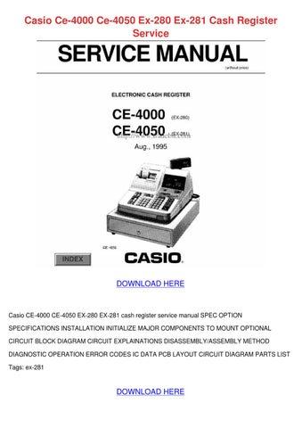 Casio Ce 4000 Ce 4050 Ex 280 Ex 281 Cash Regi by Karey Walcott - issuu