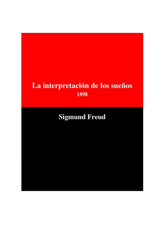 La Interpretación de los Sueños de Sigmund Freud by Escuela Rural ...