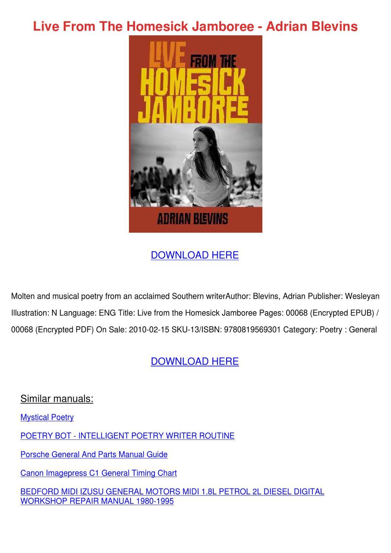 1995 jamboree Owners manual