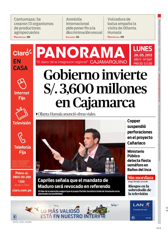 diario-20-05-2013 by Panorama Cajamarquino - issuu