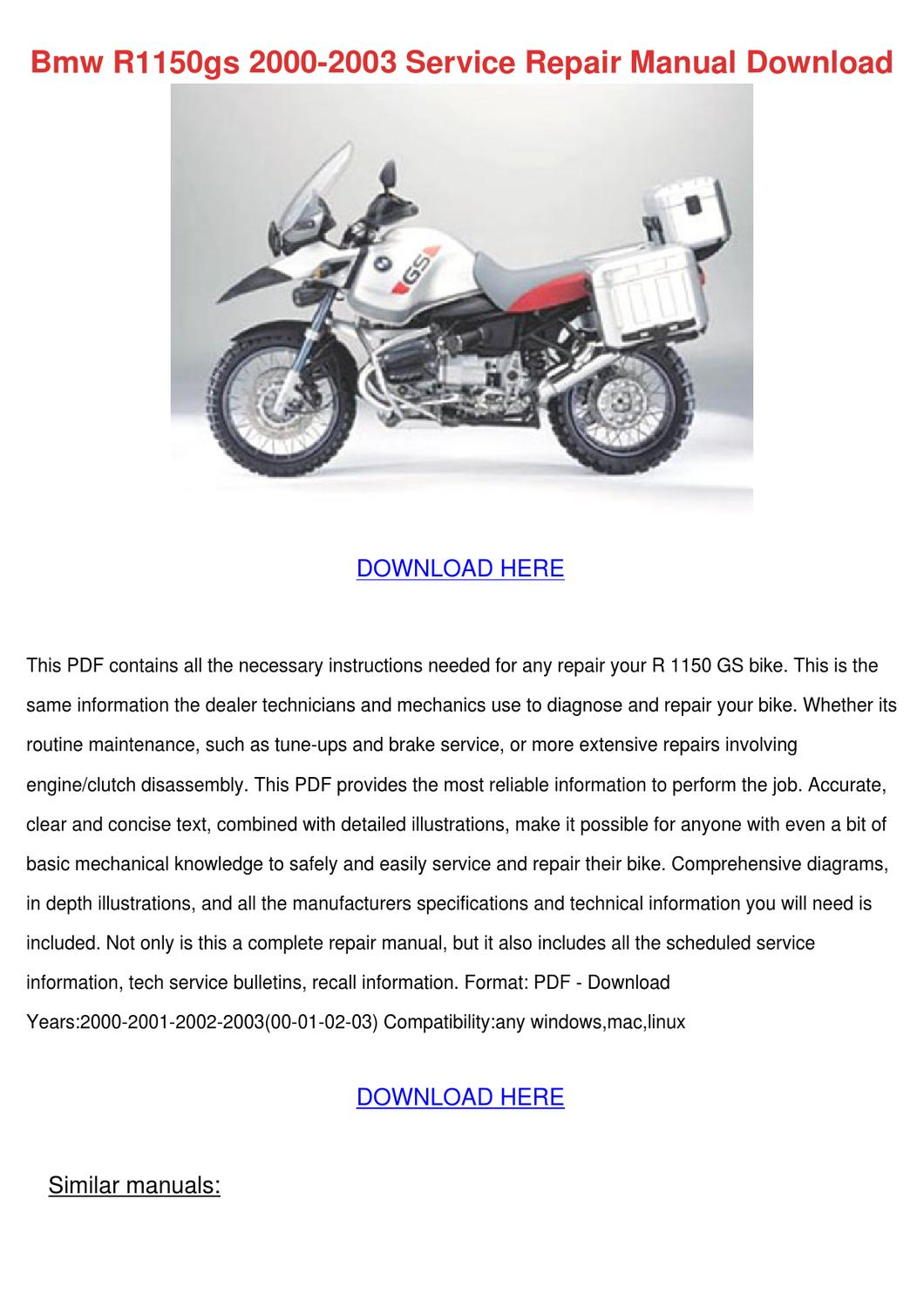 ... bmw r Array - r1150gs repair manual rh alcoholism pills on line info
