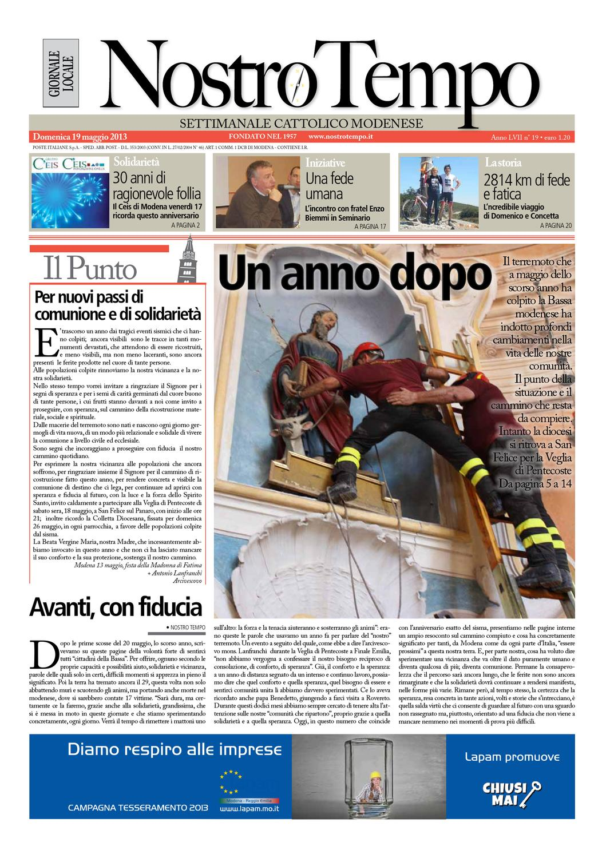 Nostro Tempo Settimanale Diocesano Modena Nonantola By