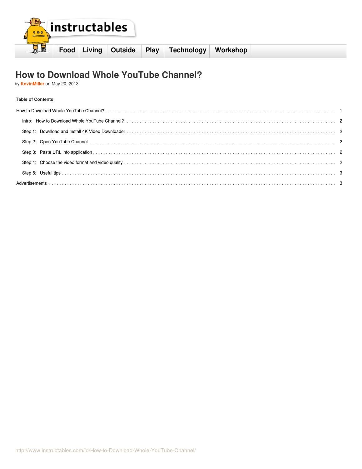 How to download all videos of youtube channel in one click by kevin how to download all videos of youtube channel in one click by kevin miller issuu ccuart Images