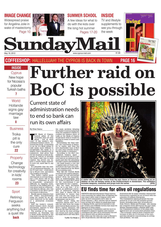 Sunday mail newspaper by Cyprus Mail Co Ltd - issuu