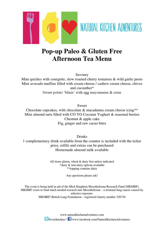 pop up tea menu by ceri jones