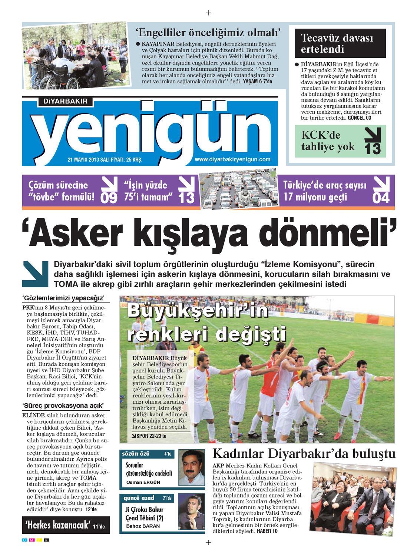 Diyarbakir Yenigun Gazetesi 21 Mayis 2012 By Osman Ergun Issuu