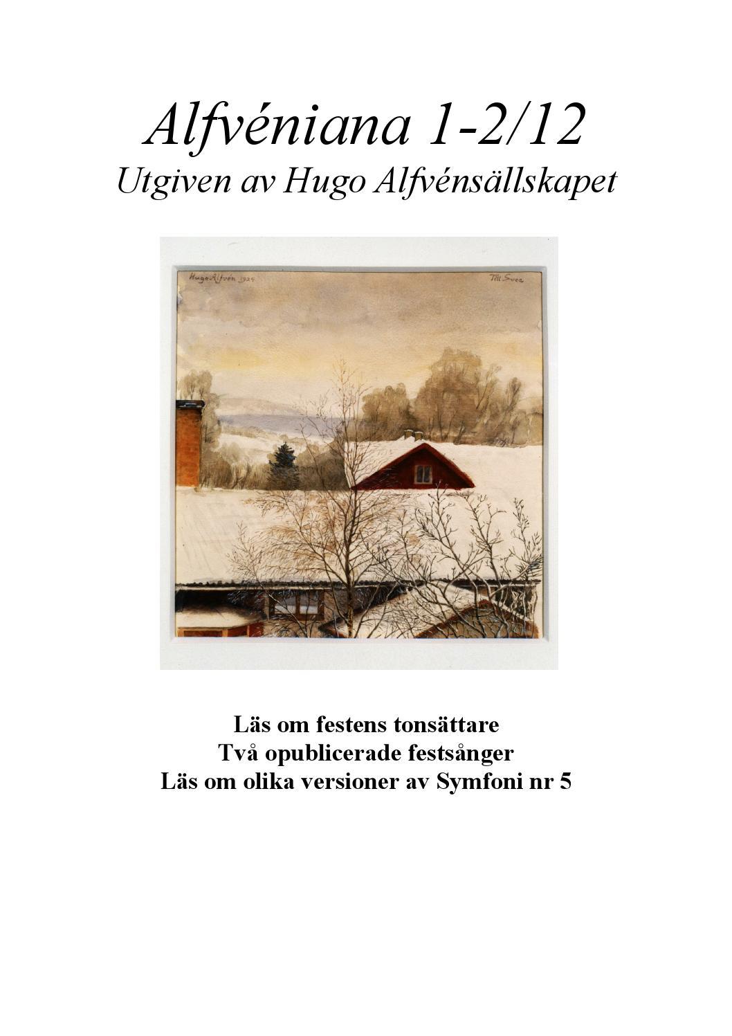 festsånger 40 år Alfven 12 01 02 by Anton Alfvén   issuu festsånger 40 år