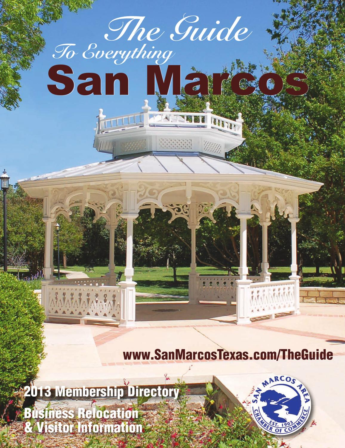 The Guide To Everything San Marcos by Publication Printer - issuu