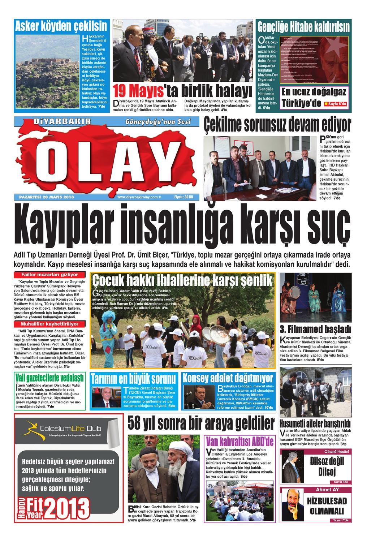 20 05 2013 Gazete Sayfalari By Diyarbakir Olaygazetesi Issuu