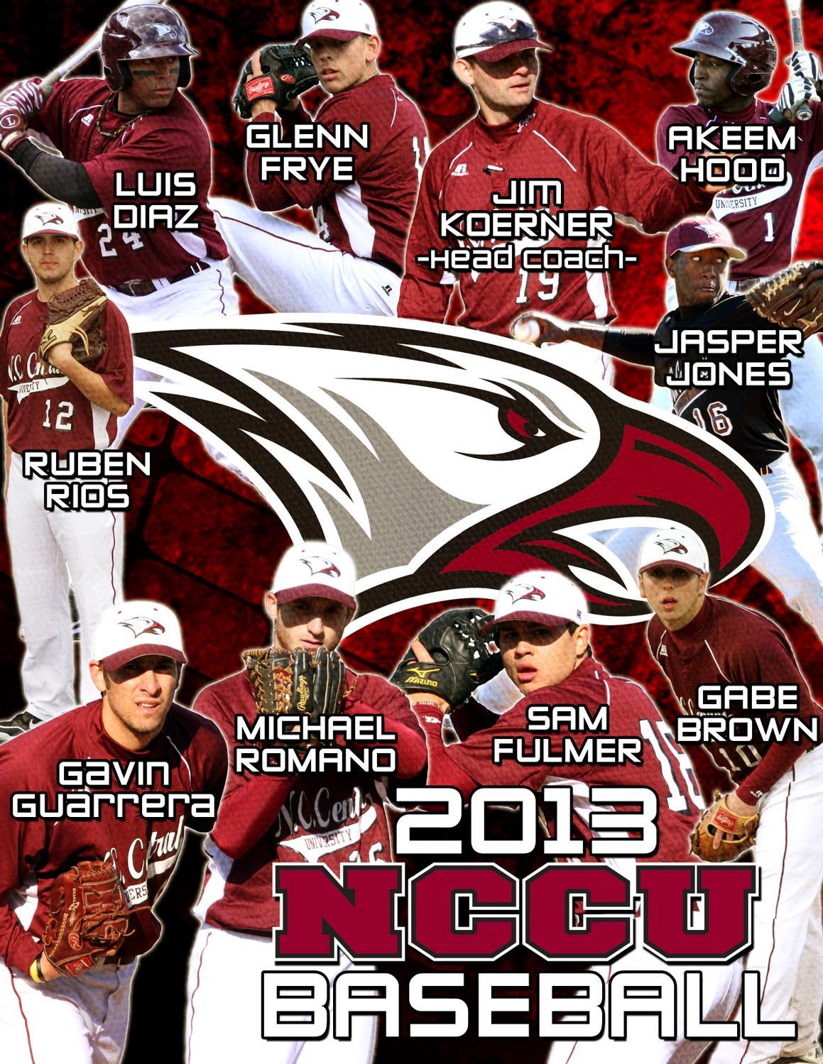 2013 nccu baseball information guide by north carolina central
