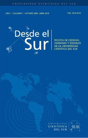 Desde el Sur Vol. 1 N° 1 by Biblioteca Cientifica - issuu 59378d3564b58