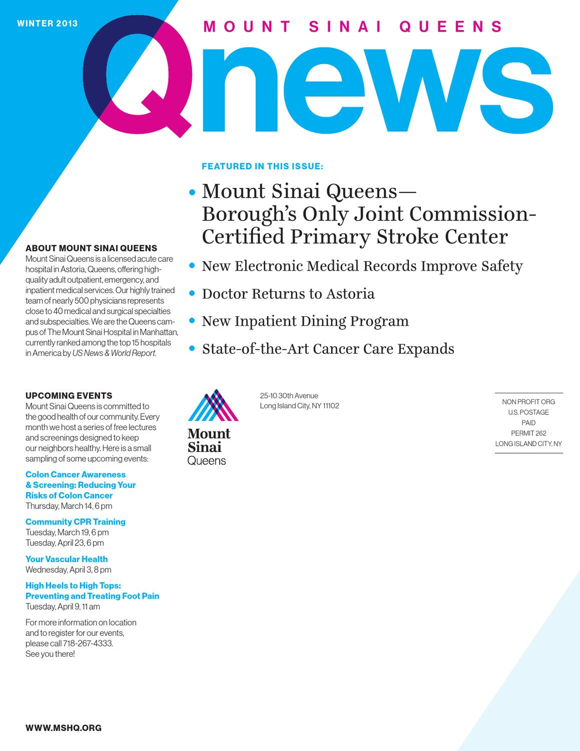 QNews by Mount Sinai Health System - issuu