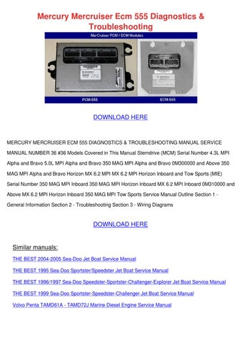 Mercury Mercruiser Ecm 555 Diagnostics Troubl by Vallie Barbar - issuu