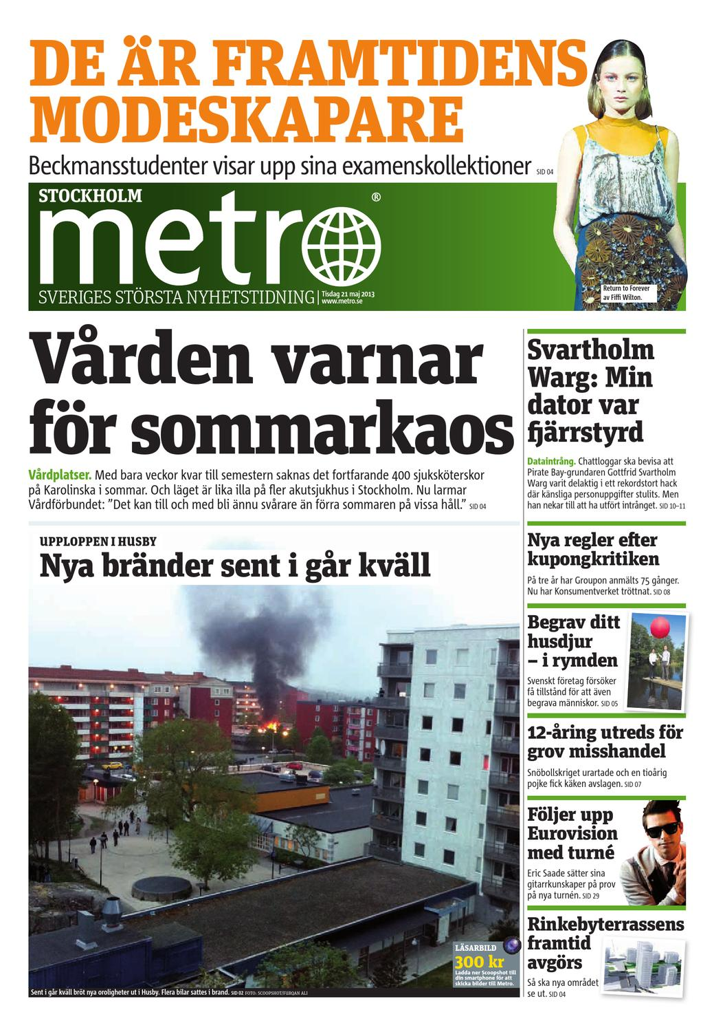 super popular f770c 959f0 20130521 se stockholm by Metro Sweden - issuu