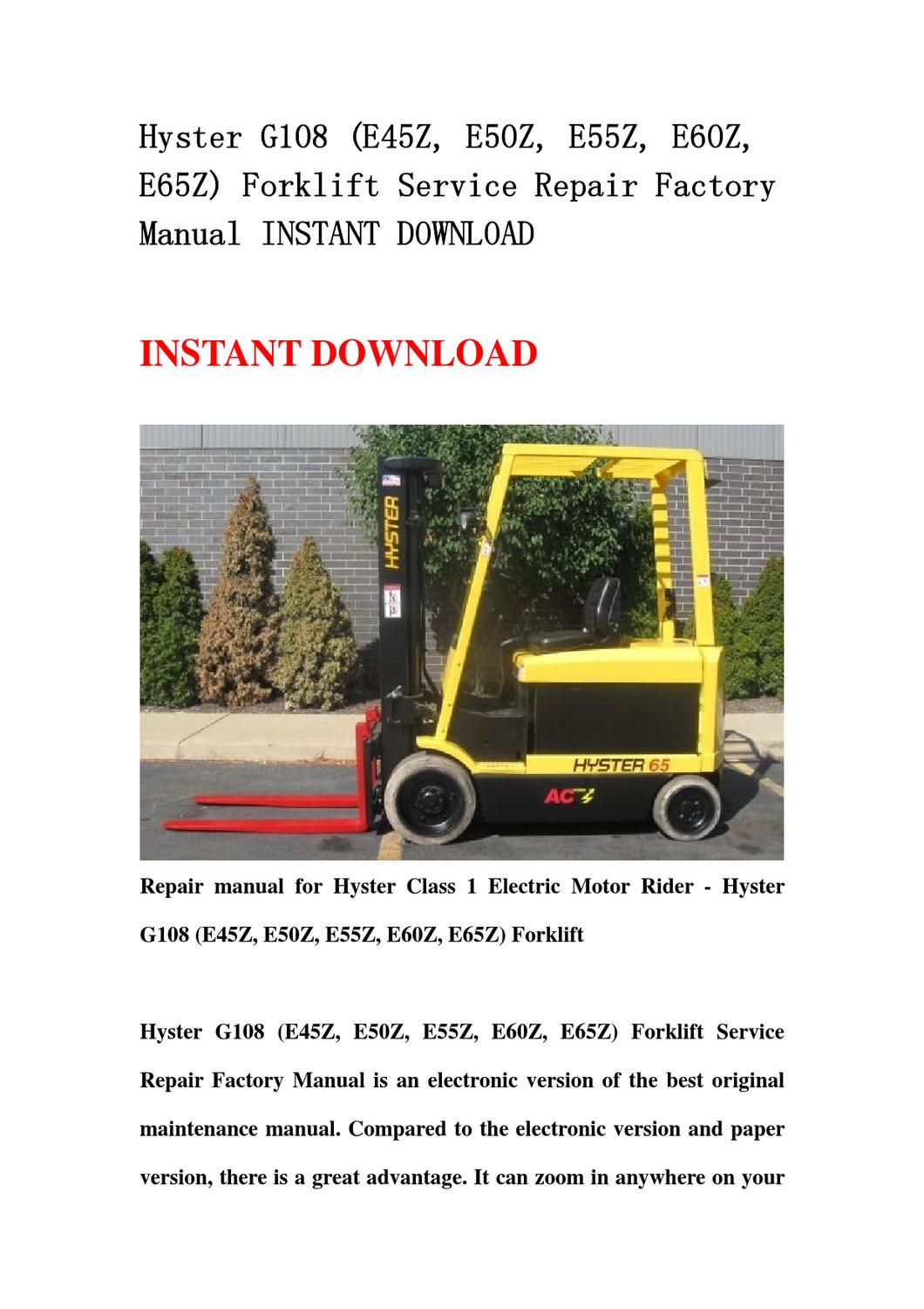 Hyster 65 Forklift Wiring Diagram - Wiring Diagrams ROCK