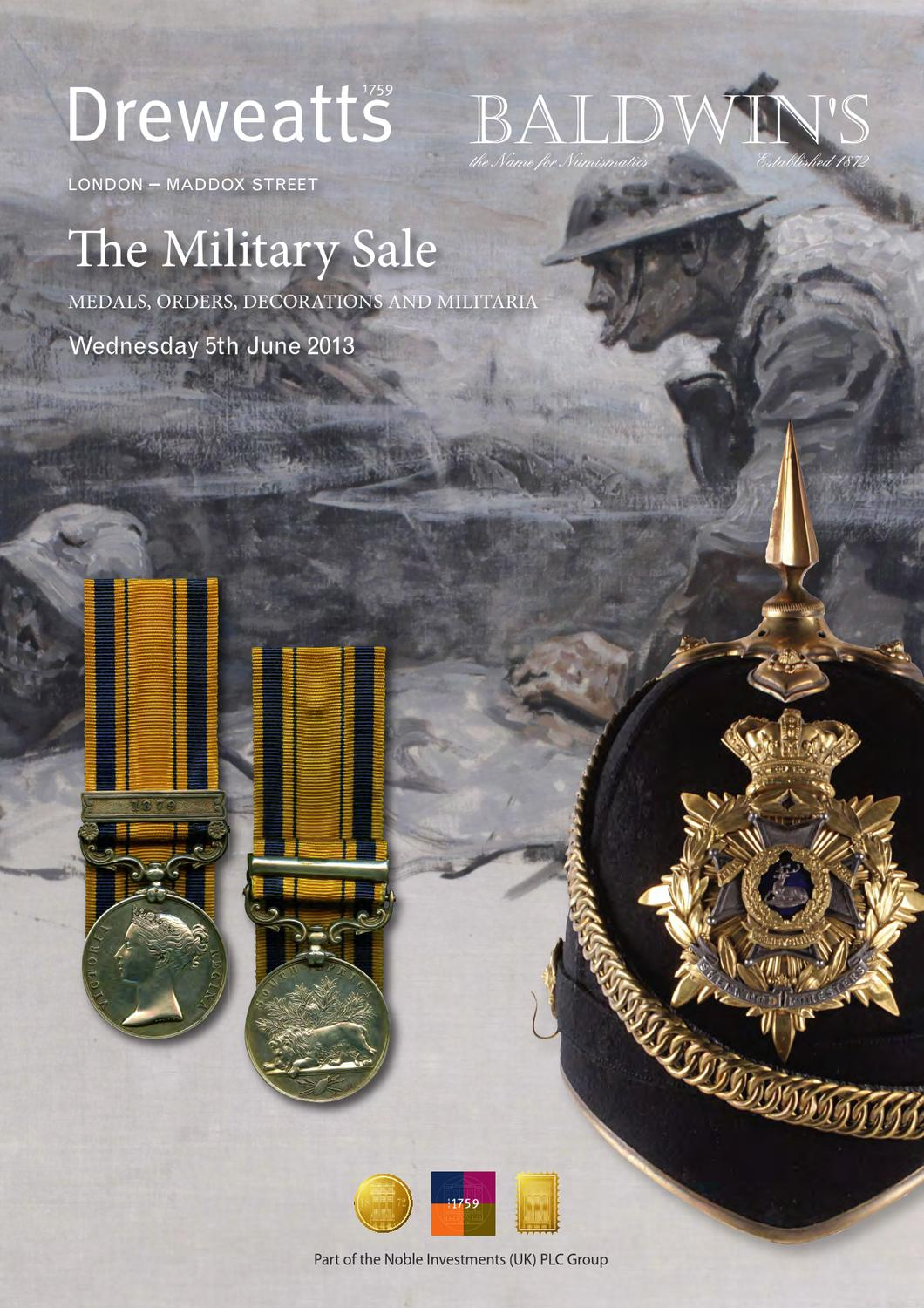 The military sale by a h baldwin sons ltd issuu for 11 adelphi terrace london wc2n 6bj