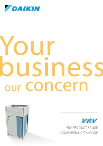 VRV Catalogue by Daikin Europe N V  - issuu