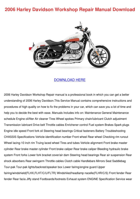 1991 1992 Harley Davidson XLH SPORTSTER Models Service Repair Shop Manual NEW