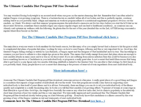 The Ultimate Candida Diet Program Pdf Free Download By Ellie Archie