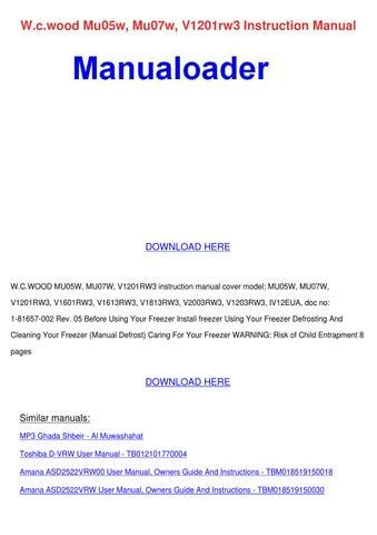 Wcwood Mu05w Mu07w V1201rw3 Instruction Manua By Yung Shellenbarger
