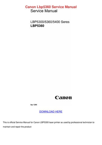 canon lbp5360 service manual by bari capan issuu rh issuu com