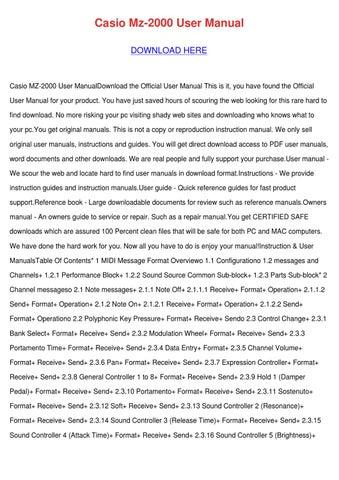 Casio Mz 2000 User Manual by Bari Capan - issuu