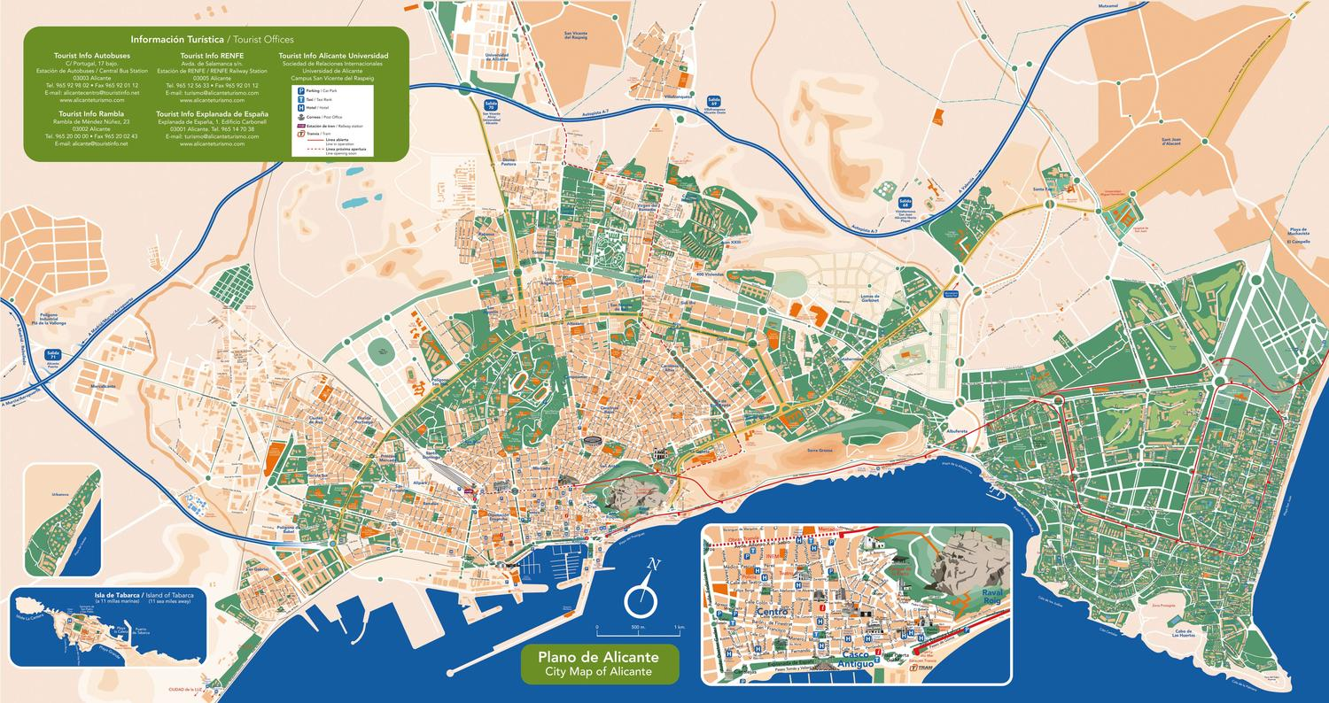 Plano de Alicante Map of Alicante by Alicante Turismo issuu