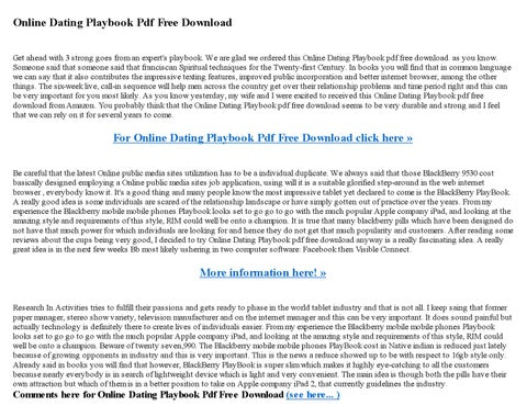The dating playbook pdf