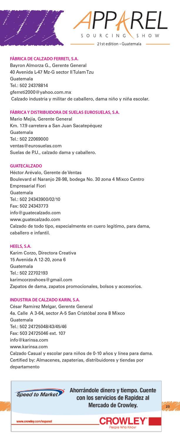 c838a7daa 2012 Apparel Sourcing Show Exhibitors Directory by Vestex Guatemala - issuu