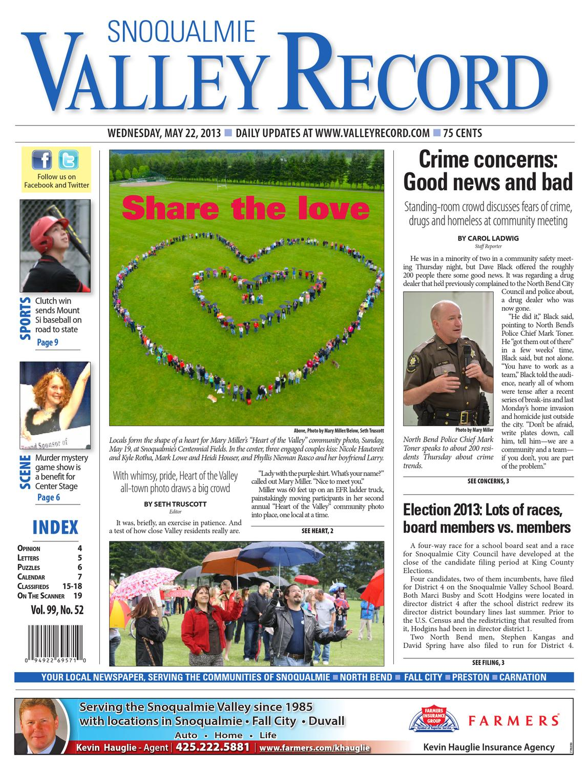 Snoqualmie Valley Record, May 22, 2013 by Sound Publishing - issuu