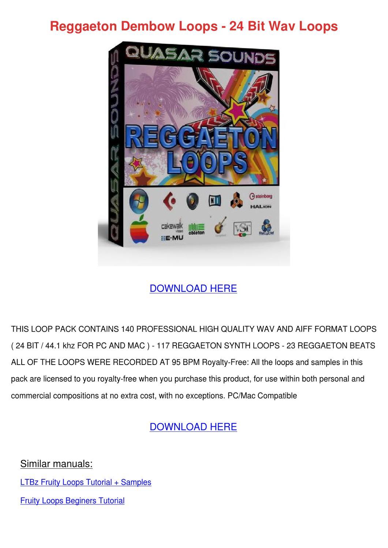 Reggaeton Dembow Loops 24 Bit Wav Loops by Kathie Balliet