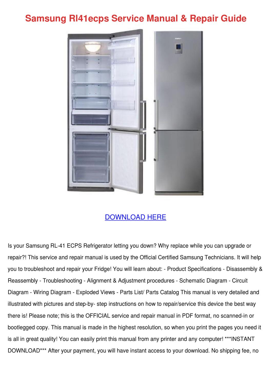 Computer Troubleshooting Manual samsung refrigerator